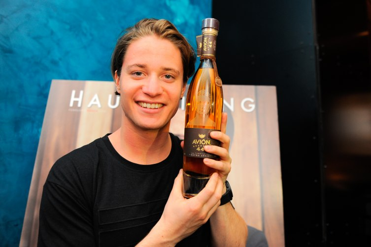 Kygo with custom Avión Reserva 44 Bottle