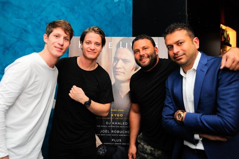Myles Shear, Kygo, David Grutman & Kamal Hotchandani