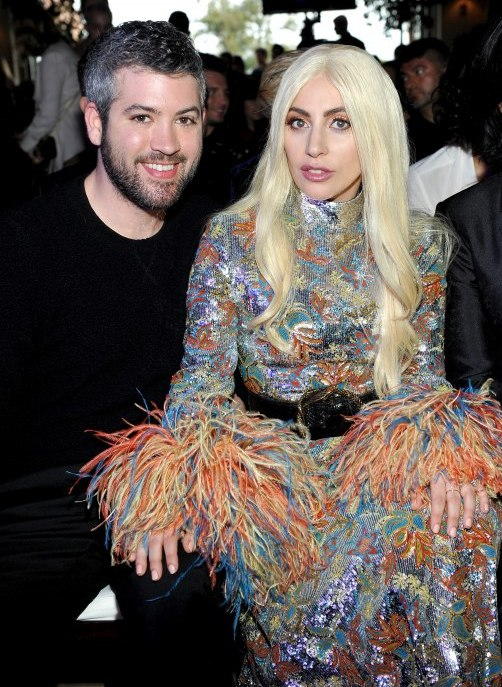 Honorees Brandon Maxwell (L) and Lady Gaga