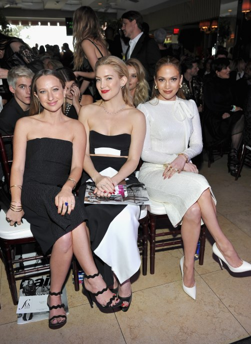 "Honoree/jewelry designer Jennifer Meyer, actress Kate Hudson and actress/singer Jennifer Lopez attend The Daily Front Row ""Fashion Los Angeles Awards"""