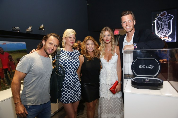 Yury Bettoni, April Donelson, Monica Venegas, Ester Berdych Satorova, and Tomas Berdych