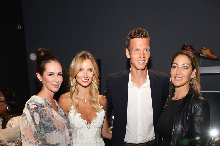 Ashley Sideman, Ester Berdych Satorova, Tomas Berdych, and Sarah Mirmelli