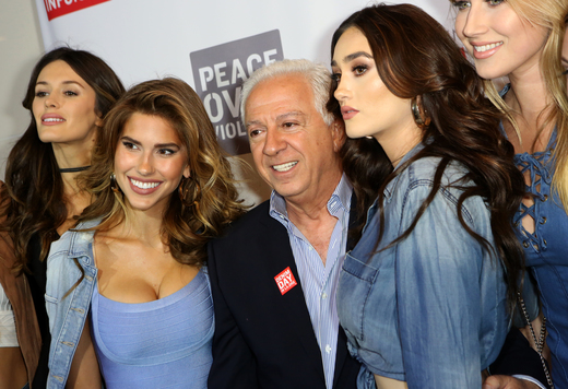 Paul Marciano with Guess models