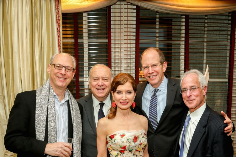 "Carl Kempner, Martin Shafiroff, Jean Shafiroff, Bob Chaloner, Steve Bernstien== The Launch of Jean Shafiroff's Book, ""Successful Philanthropy: How To Make A Life By What You Give""== Private Residence, NYC== March 21, 2016== ©Patrick McMullan== Photo - J Grassi/ PMC== =="