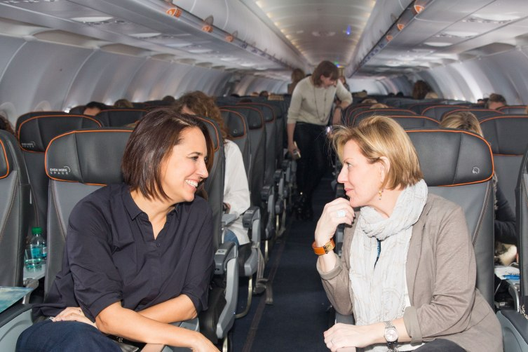Anne Fulenwider and Nancy Berger Cardone on JetBlue Flight