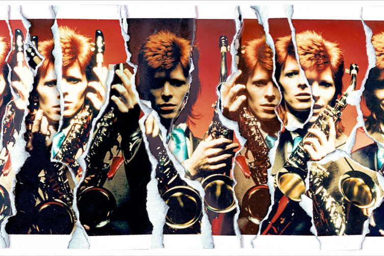 David Bowie Sax Ripart, by Mick Rock, 1999