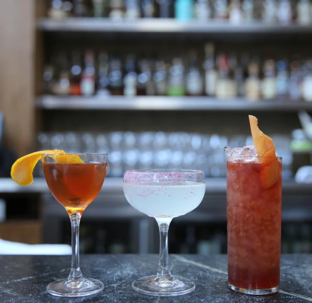 The spring cocktail lineup at Foreign Cinema.