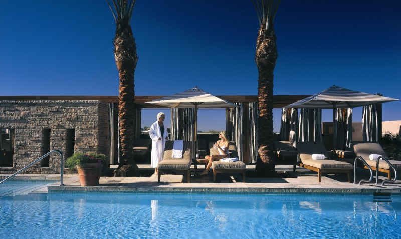 The rooftop pool at the spa at the Fairmont Scottsdale Princess.