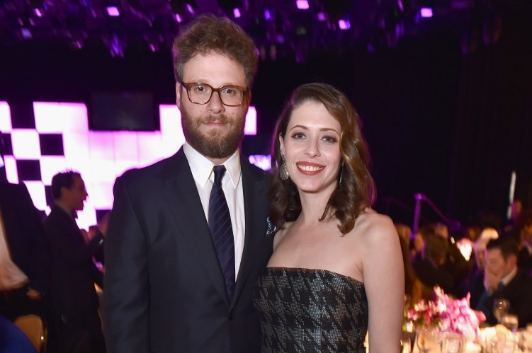 "Seth Rogen and Lauren Miller attend the 24th annual Alzheimer's Association ""A Night at Sardi's"""