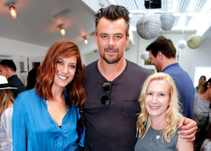 Kate Walsh, Josh Duhamel and Angela Kinsey attend the partnership celebration between TOMS and Oceana to help save the sea turtles on March 24, 2016 at Au Fudge