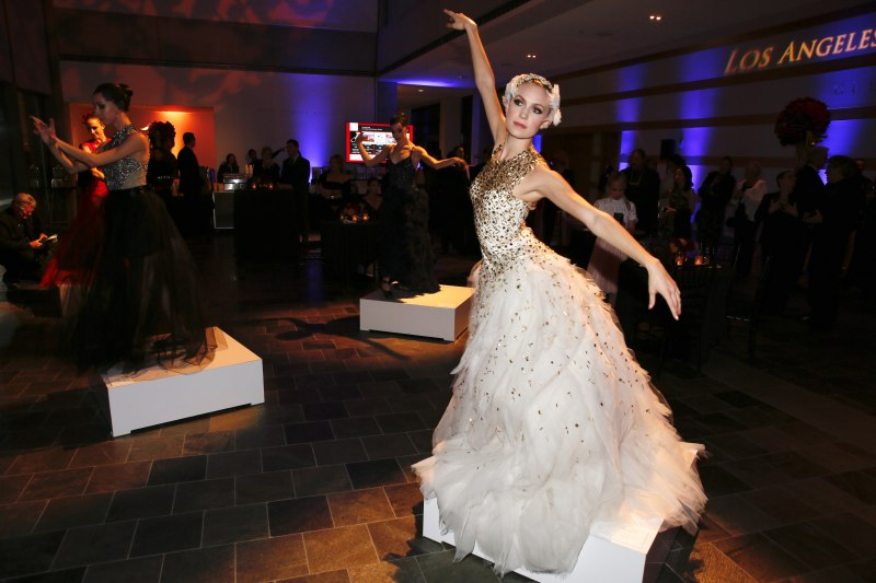 The fashion installation courtesy of creative partner, couture fashion designer Monique Lhuillier during the Los Angeles Ballet Season 10 Gala