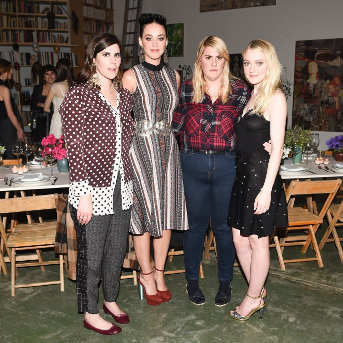 Laura Mulleavy, Katy Perry, Kate Mulleavy, Dakota Fanning