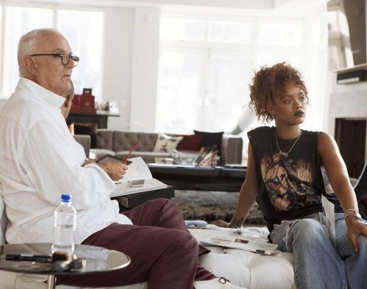 Manolo Blahnik and Rihanna