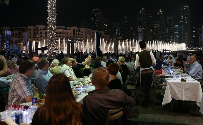 Attendees of Mondays In White reveled in the awe of the event at The Dubai Mall.