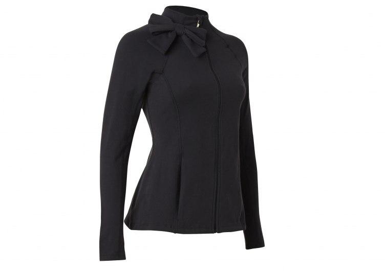 Neck Bow Jacket - Black - $179