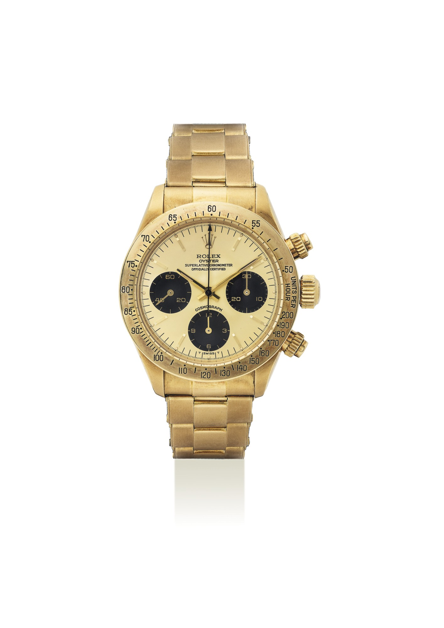 ROLEX._AN_EXTREMELY_FINE_AND_VERY_RARE_18K_GOLD_CHRONOGRAPH_WRISTWATCH_WITH_CHAMPAGNE_DIAL,_BRACELET,_ORIGINAL_GUARANTEE_AND_BOX