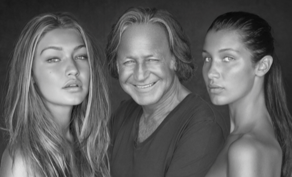 Gigi, Mohammed and Bella Hadid