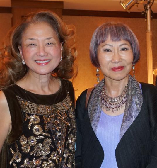 Olivia Tsu and Amy Tan