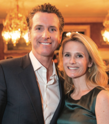 LIEUTENANT GOVERNOR GAVIN NEWSOM AND JENNIFER SIEBEL NEWSOM