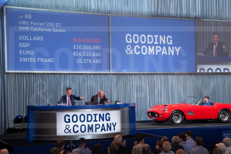 1961 Ferrari 250 GT SWB California Spider sells for $17,160,000.