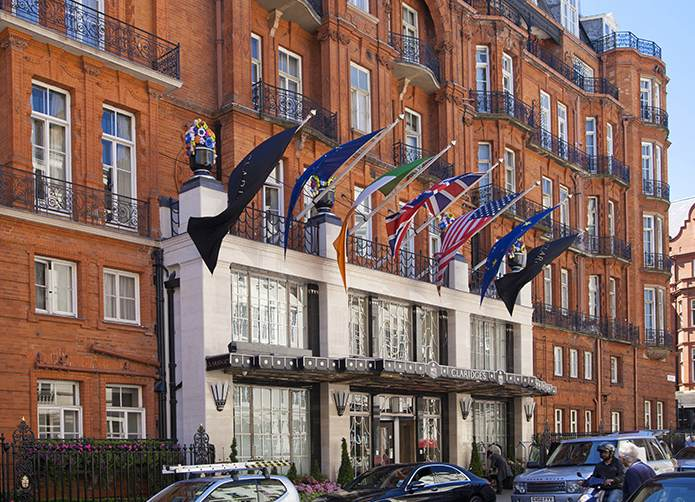 Claridge's London with Qatari Flag