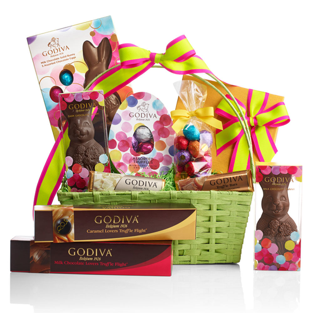 5 decadent easter baskets for toddlers tweens and adults lux easter gift basket 11112 negle Choice Image