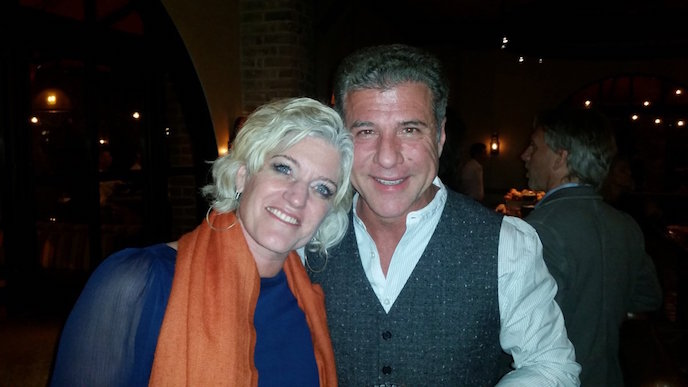 Eileen and Michael Chiarello at Bottega during Yountville Live 2015