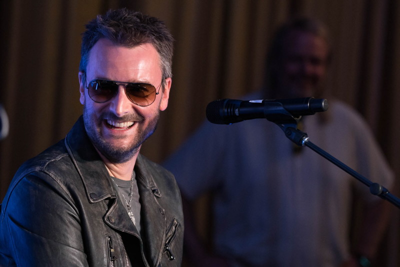 Eric Church performs at the Mandarin Oriental Las Vegas' Destination Sound experience
