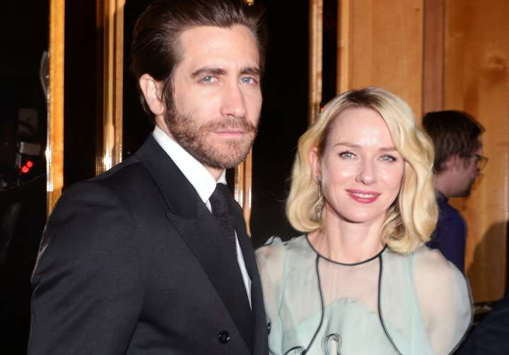 "Jake Gyllenhaal and Naomi Watts at The Cinema Society and Fox Searchlight Pictures premiere Fox Searchlight Pictures with The Cinema Society host the after party for ""Demolition""== Top of the Standard, NYC== March 21, 2016== ©Patrick McMullan== Photo - Clint Spaulding/ PMC== =="