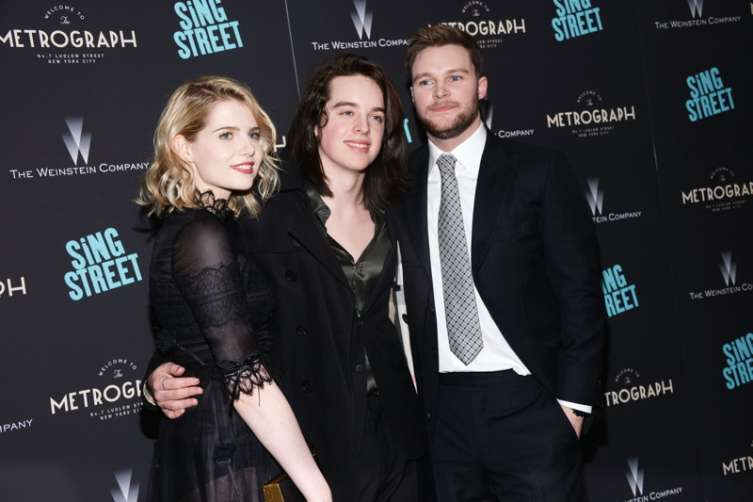Lucy Boynton, Ferdia Walsh-Peelo, Jack Reynor at The Weinstein Company premiere of Sing Street. All photos: ©Patrick McMullan, -Clint Spaulding/PMC.