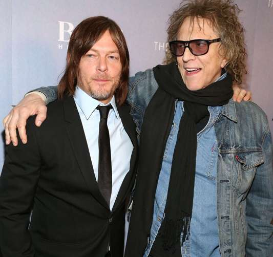 Norman Reedus and Mick Rock