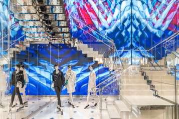Dior boutique, Union Square, San Francisco, USA.
