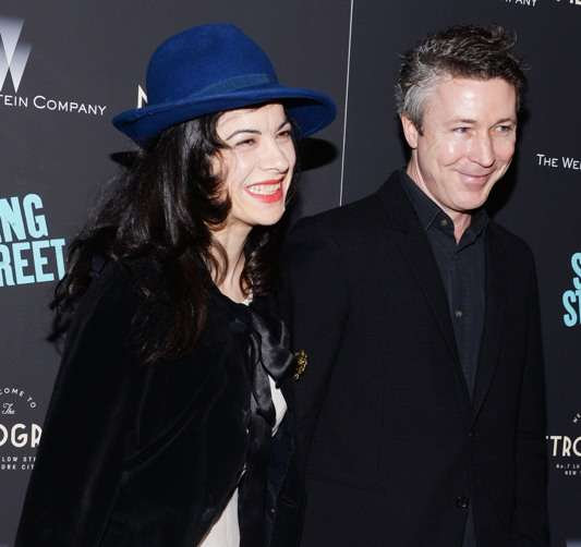 Camille O'Sullivan, Aidan Gillen at The Weinstein Company premiere of Sing Street. All photos by Clint Spaulding/PMC.