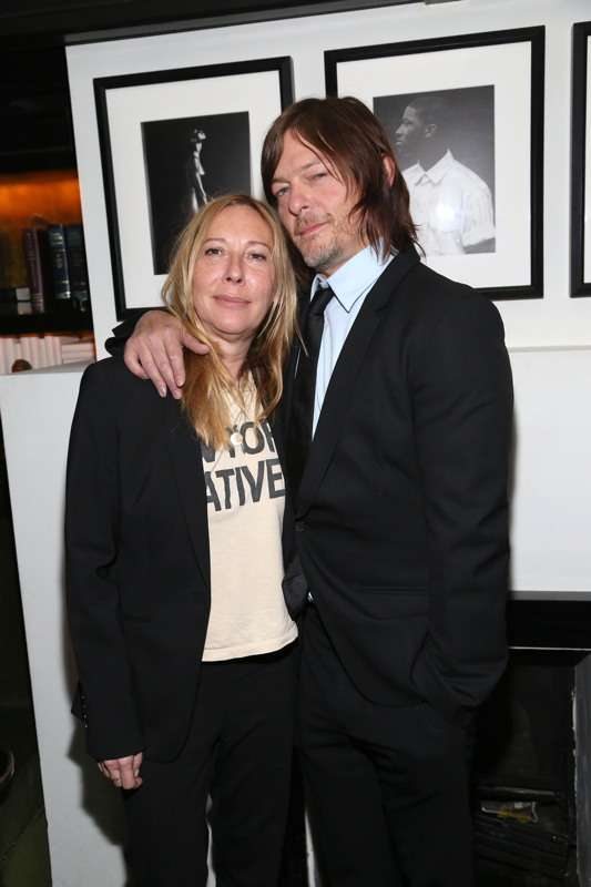 Director Fabienne Berthaud and Norman Reedus