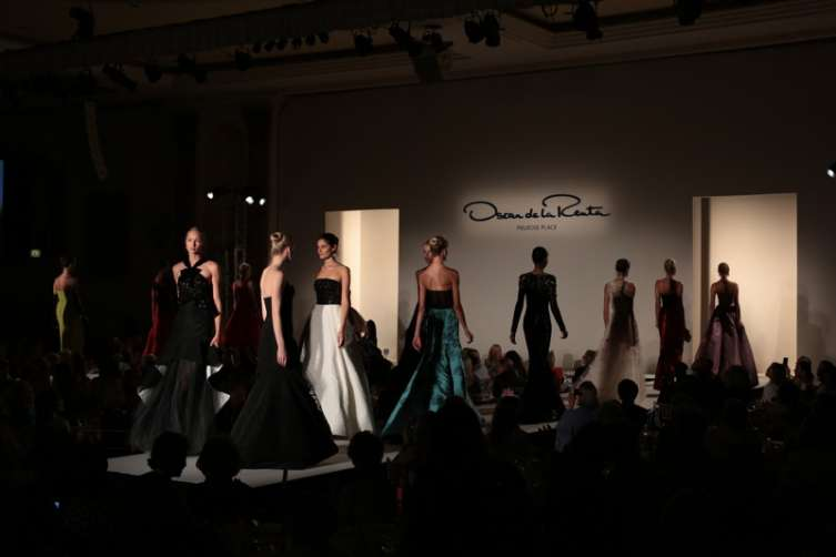 A view of the Oscar De La Renta A/W 2016 show during the Colleagues Annual Luncheon and Oscar de la Renta Fashion Show at the Beverly Wilshire