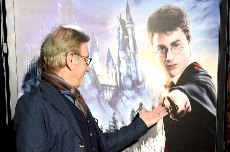 Director Steven Spielberg arrives at the opening of the 'Wizarding World of Harry Potter' at Universal Studios Hollywood