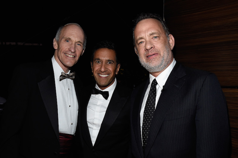 Dr. Carl June, Dr. Sanjay Gupta and actor Tom Hanks