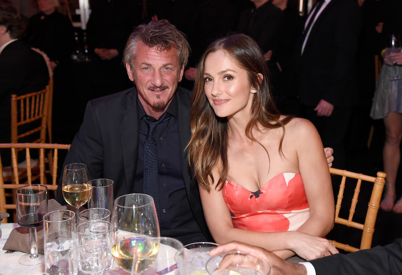 Sean Penn (L) and Minka Kelly