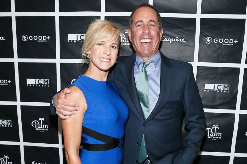 GOOD+ Foundation founder Jessica Seinfeld and host Jerry Seinfeld attend the 2nd annual Los Angeles Fatherhood Lunch to benefit GOOD+FOUNDATION