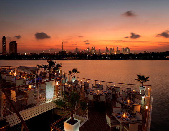 Boardwalk Cafe in Dubai offers incredible views.