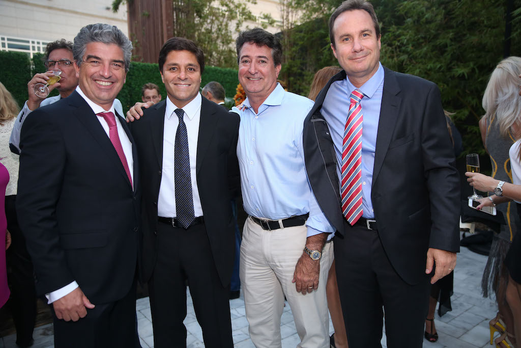 Carlos Rosso, Raimundo Onetto, Henry Pino & Rodrigo Gana at the grand opening of Auberge Residences & Spa Miami's design center