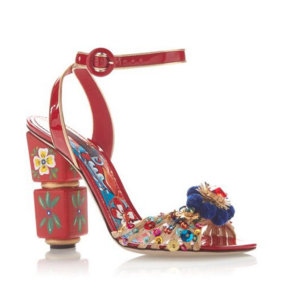 Dolce & Gabbana's Red Painted Sandals.