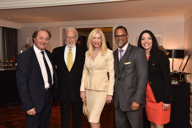 The Ritz-Carlton's president and chief operating officer Herve Humler, Ted Deikel, Pam Deikel, Mwanza Major, and Marianne Arata