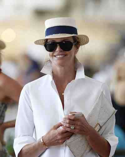 Elle Macpherson at Longines Global Champion's Tour