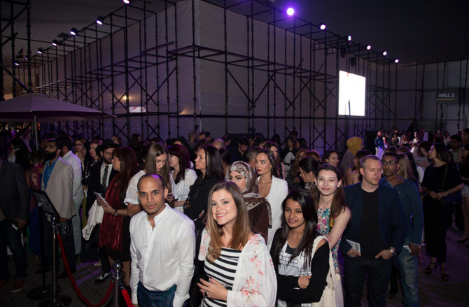 Throngs of fashion savvy guests eagerly awaited each show of FFWD 2106 in Dubai.