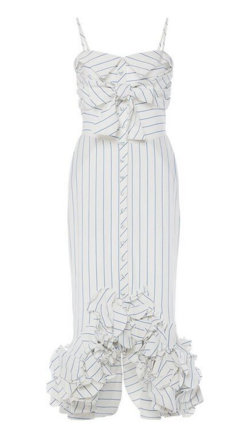 Striped Linen Simone De Beauvoir Dress by Johanna Ortiz.