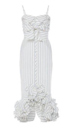 Striped Linen Simone De Beauvoir Dress by Johanna Ortiz.