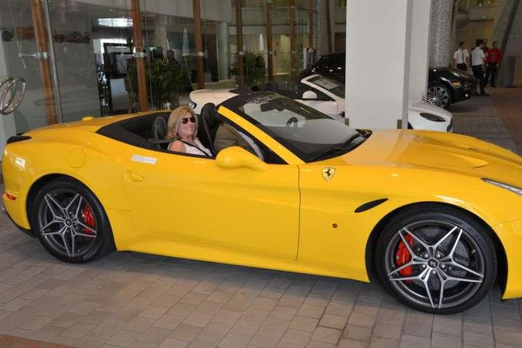 Guests enjoying Ferrari test drives
