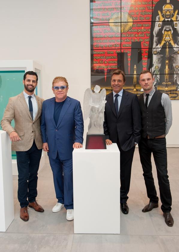 Zouhairi with Elton John