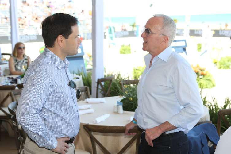 Senator Marco Rubio and Frank McCourt (Photo by Alexander Tamargo/Getty Images for Global Champions Tour)